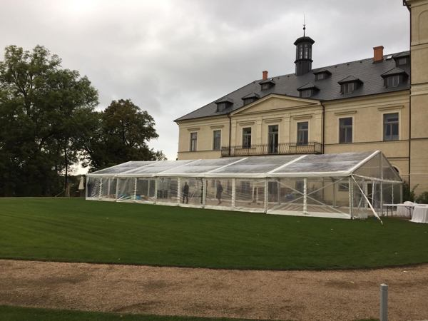 Clear wedding tent - Chateau Mcely