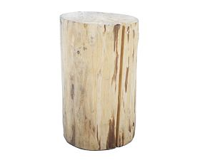 Stylish wooden log for sitting
