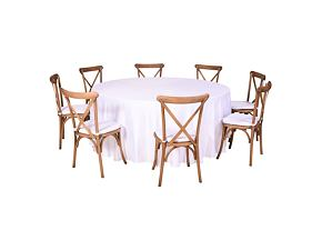 Catering set for 8 persons - Cross Back chair