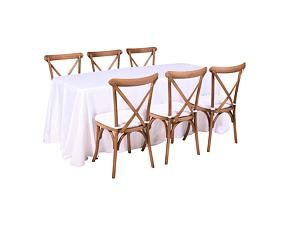 Catering set for 6 persons - Cross chair