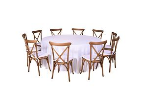 Catering set for 10 persons - Cross chair