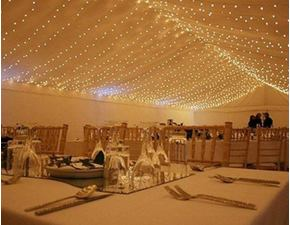 Light curtain 3x6 m - 600 LED - warm white