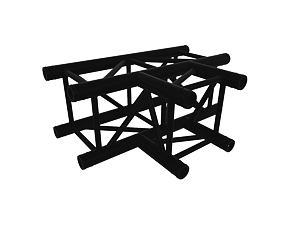 Black truss A290 no. 8288 - 710x500 mm - T-corner