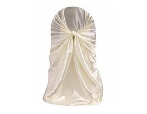 Sateen chair cover - white