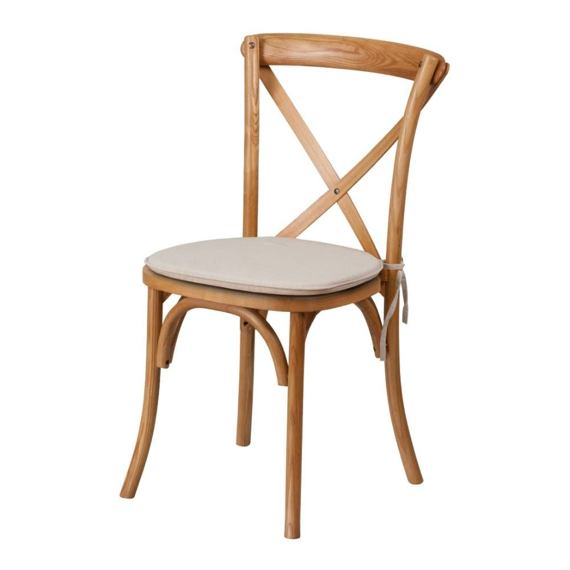 Oak chairs Cross Back