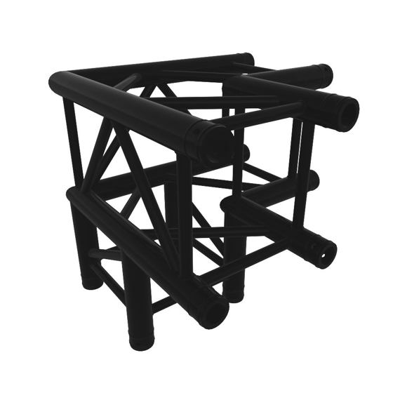 Black truss A290 8287 - 500x500x500 mm - 3-way