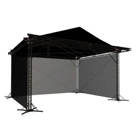 Black enclosure MILOS 12x10x7 m